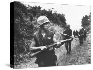 US Marines During Sweep of Area South of Dmz by Troops of 2nd Battalion, 5th Div