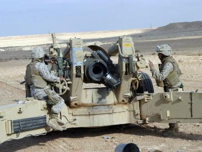 US Marines Prepare to Fire a Howitzer Near Baghdad, Iraq, January 6, 2007-Stocktrek Images-Photographic Print
