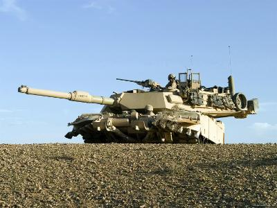 US Marines Provide Security in an M1A1 Abrams Tank-Stocktrek Images-Photographic Print