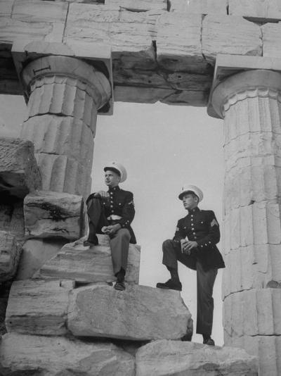 US Marines Sightseeing in Athens--Photographic Print