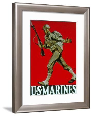 Us Marines World War One Recruitment Poster--Framed Giclee Print