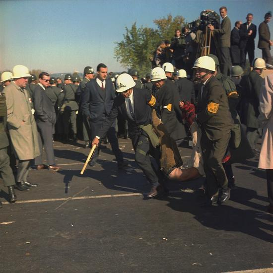 US Marshals Remove an Anti-Vietnam War Protester at the Pentagon, Oct, 22, 1967--Photo