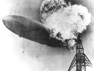 Hindenburg Crash, 1937 by us Navy
