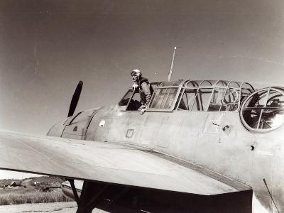 Us Navy Pilot, Lt. George Gay, Guadalcanal, May 1943--Photographic Print