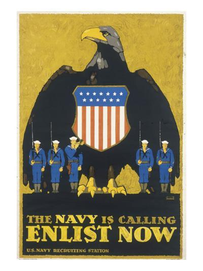 Us Navy Poster, WWI--Giclee Print