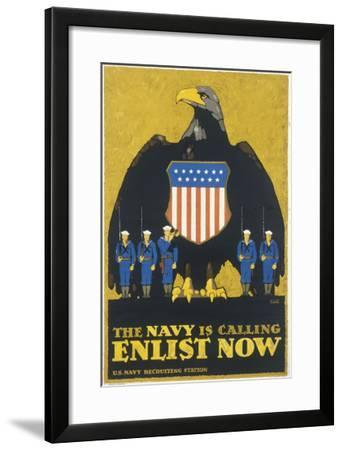 Us Navy Poster, WWI--Framed Giclee Print
