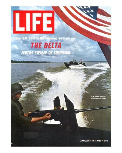 US Navy Presence on Mekong River During Vietnam War, January 13, 1967-Larry Burrows-Photographic Print