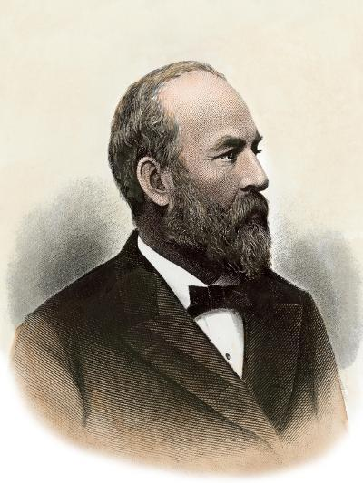 Us President James A. Garfield--Giclee Print