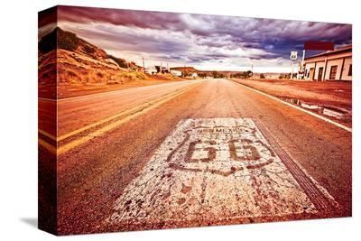 US Route 66--Stretched Canvas Print