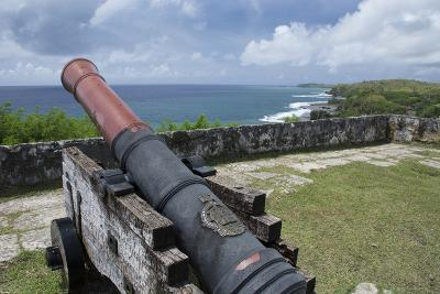 Us Territory of Guam, Umatac. Fort Soledad. Cannon and Philippine Sea-Cindy Miller Hopkins-Photographic Print