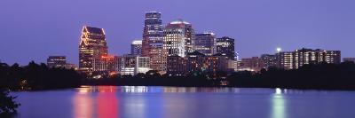 Us, Texas, Austin, Skyline, Night--Photographic Print