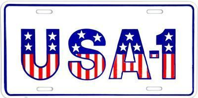 USA #1--Tin Sign