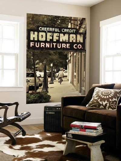 USA, Alabama, Mobile, Dauphin Street, Old Neon Sign for Hoffman Furniture-Walter Bibikow-Wall Mural