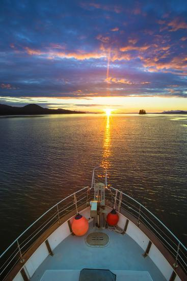 USA, Alaska. Sunset Seen from Boat at Flynn Cove-Jaynes Gallery-Photographic Print