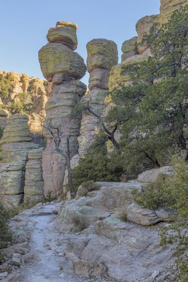 USA, Arizona, Chiricahua National Monument. Eroded Rock Formations-Don Paulson-Photographic Print