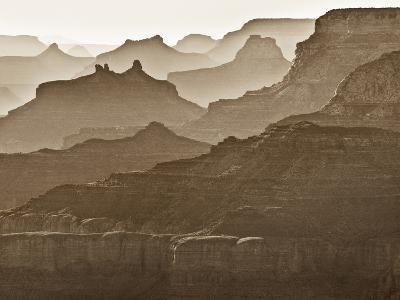 USA, Arizona, Grand Canyon National Park, Buttes and Haze on the South Rim-Ann Collins-Photographic Print