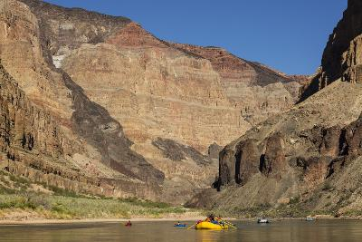 USA, Arizona, Grand Canyon National Park. Kayakers on Colorado River-Don Grall-Photographic Print