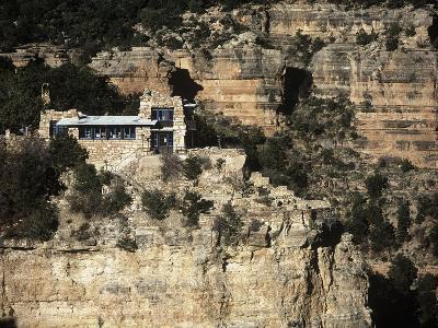 Usa, Arizona, Grand Canyon National Park, Lookout Studio at South Rim of Grand Canyon--Giclee Print