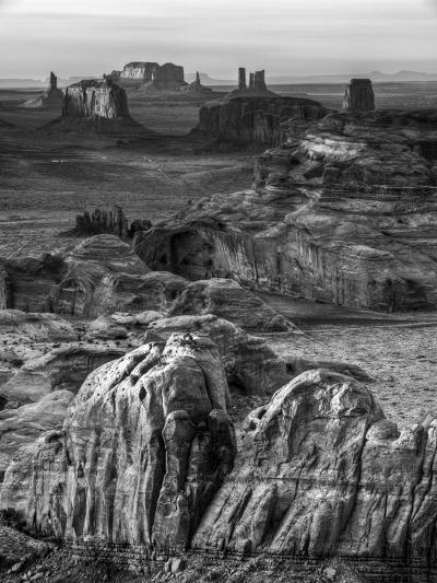 USA, Arizona, Monument Valley. Sunset View from Hunt's Mesa-Ann Collins-Photographic Print