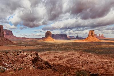 USA, Arizona, Monument Valley, under Clouds-John Ford-Photographic Print