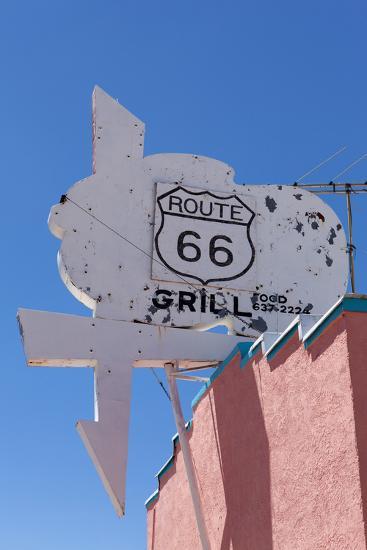 USA, Arizona, Route 66, Old Billboard-Catharina Lux-Photographic Print