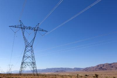 USA, Arizona, Route 66, Wide Landscape, Power Pole-Catharina Lux-Photographic Print