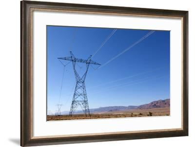 USA, Arizona, Route 66, Wide Landscape, Power Pole-Catharina Lux-Framed Photographic Print
