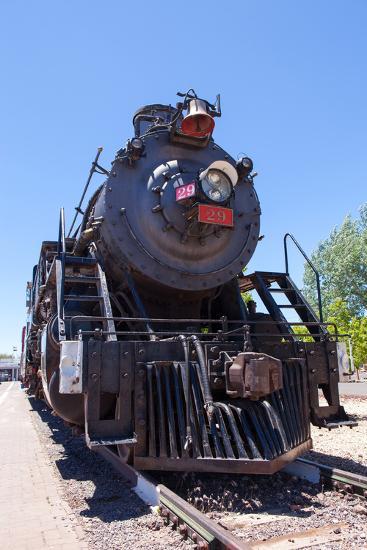 USA, Arizona, Route 66, Williams, Railway Station, Steam Engine-Catharina Lux-Photographic Print