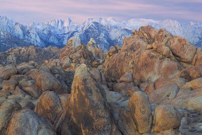 USA, California, Alabama Hills. View of Mount Whitney-Don Paulson-Photographic Print