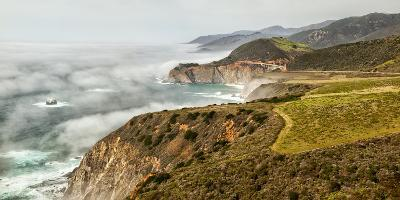 USA, California, Big Sur, Fog Approaches Bixby Bridge in the Afternoon-Ann Collins-Photographic Print