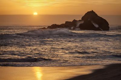 USA, California, Big Sur. Sunset and Splashes at Pfeiffer Beach-Ann Collins-Photographic Print