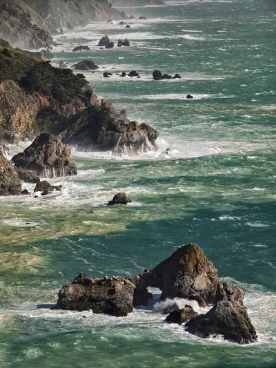 USA, California, Big Sur. Waves Hit Coast and Rocks-Ann Collins-Photographic Print
