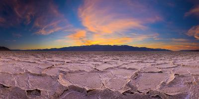 Usa, California, Death Valley National Park, Badwater Basin, Lowest Point in North America-Alan Copson-Photographic Print