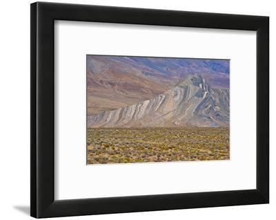 USA, California, Death Valley National Park, Butte Valley Road, Striped Butte-Bernard Friel-Framed Photographic Print