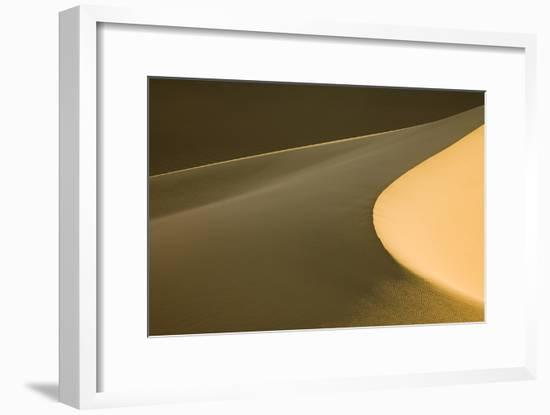 Usa, California, Death Valley National Park. Mesquite Flat Sand Dunes.-Merrill Images-Framed Photographic Print