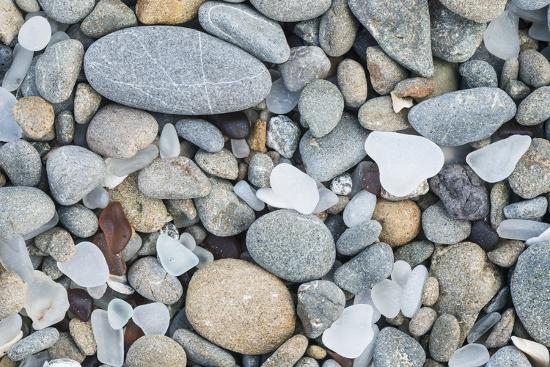 USA, California, Ft. Bragg, Close-up of Glass Beach Pebbles-Rob Tilley-Premium Photographic Print
