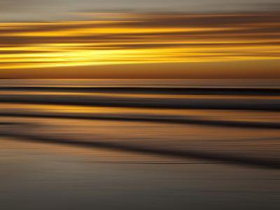 USA, California, La Jolla, Abstract of Incoming Waves at Sunset-Ann Collins-Photographic Print