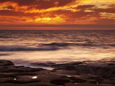 USA, California, La Jolla, Sunset over Tide Pools at Coast Blvd-Ann Collins-Photographic Print