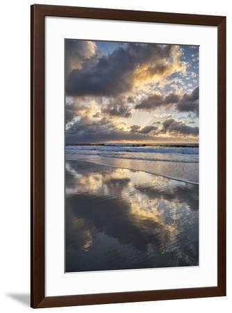 USA, California, La Jolla. Sunset reflections at Marine Street Beach-Ann Collins-Framed Photographic Print