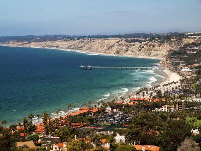 USA, California, La Jolla. View of La Jolla Shores and Scripps Pier-Ann Collins-Photographic Print