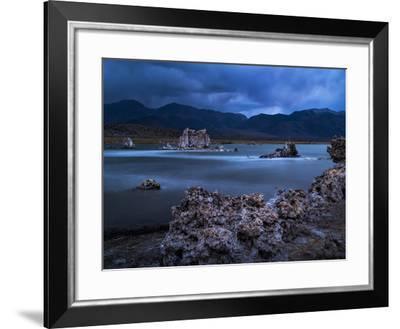 USA, California, Mono Lake. Tufas after Dusk-Ann Collins-Framed Photographic Print