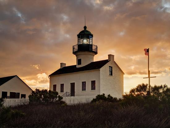 USA, California, San Diego, Old Point Loma Lighthouse at Cabrillo National Monument-Ann Collins-Photographic Print