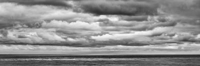 USA, California, San Diego, Panoramic Black-And-White View of Clouds over Pacific Ocean-Ann Collins-Photographic Print