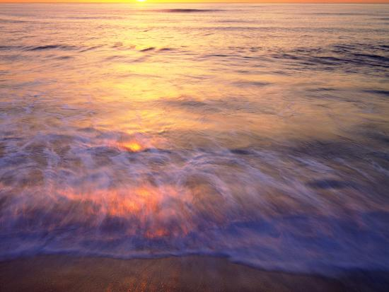 USA, California, San Diego. Sunset Cliffs Beach Reflects the Sunset-Jaynes Gallery-Photographic Print