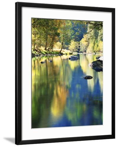 USA, California, Yosemite Autumn Reflection in the Merced River-Jaynes Gallery-Framed Photographic Print
