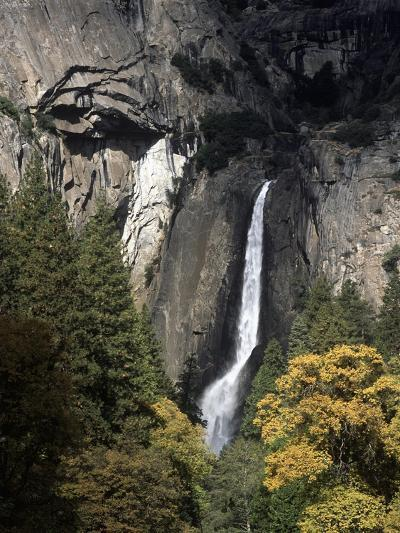 USA, California, Yosemite National Park, Waterfall in Yosemite Valley--Giclee Print