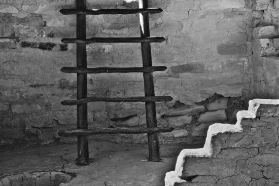 USA, Colorado, Mesa Verde, Long Ladder-John Ford-Photographic Print