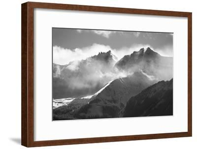 USA, Colorado, San Juan Mountains. Black and white of winter mountain landscape.-Jaynes Gallery-Framed Photographic Print