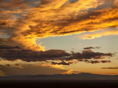 USA, Colorado, San Juan Mountains. Sunset across the San Luis Valley-Ann Collins-Photographic Print