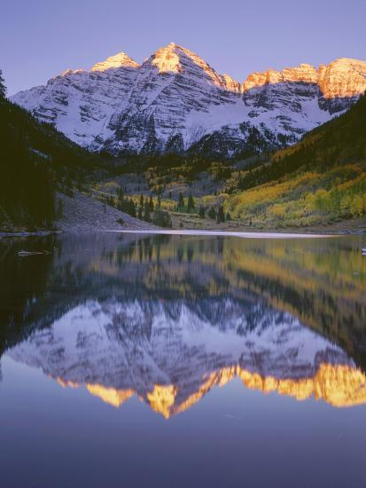 USA, Colorado, White River National Forest, Maroon Bells Snowmass Wilderness-John Barger-Photographic Print